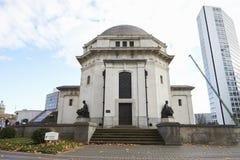 Birmingham, UK - 6 2016 Listopad: Powierzchowność Hall pamięć Wojenny pomnik W Birmingham Zdjęcia Royalty Free