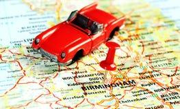 Birmingham ,UK   map  cabrio Stock Photo