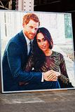 BIRMINGHAM, UK - March 2018 Photograph of the British Royal Couple The Duke and Duchess of Sussex United Kingdom. Prince royalty free stock image
