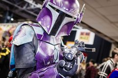 Cosplayer dressed as Star Wars characters royalty free stock image