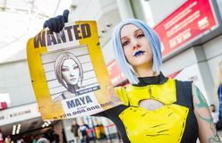 Cosplayer dressed as Maya from Borderlands 2 stock photo