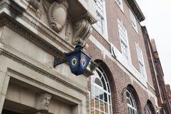 Birmingham, UK - 6 November 2016: Lamp Outside Birmingham Central Police Station royalty free stock image
