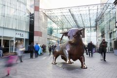 Birmingham, UK - 6 November 2016: Statue Outside The Bullring Shopping Centre In Birmingham UK royalty free stock photos