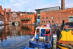 Birmingham, UK. Birmingham water canal network - famous Gas Street Basin. West Midlands, England stock photos