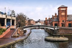 Birmingham, UK. Birmingham water canal network. West Midlands, England royalty free stock image