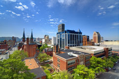 Birmingham van de binnenstad, Alabama Stock Afbeeldingen