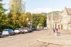 Birnam在Dunkeld苏格兰晴朗的秋天早晨之前 免版税库存图片