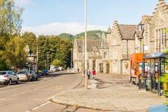 Birnam在Dunkeld苏格兰晴朗的秋天早晨之前 免版税库存照片