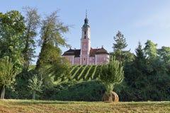 Birnau Abbey Church i Tyskland Arkivbilder