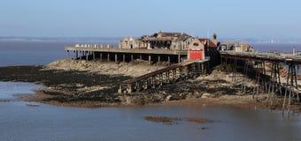 Birnbeck码头威斯顿超级母马萨默塞特英国历史的Englis 库存照片