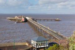 Birnbeck码头威斯顿超级母马萨默塞特英国英国 库存图片
