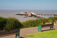Birnbeck Island Weston-super-Mare. Birnbeck Island and Prince Consort Gardens Weston-super-Mare Somerset Stock Photography