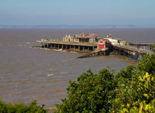 Birnbeck Island Weston-super-Mare. Birnbeck Island and Prince Consort Gardens Weston-super-Mare Somerset Stock Image