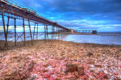 Birnbeck old Pier Weston-super-Mare Somerset England in colourful HDR Royalty Free Stock Photos