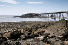 Birnbeck pier Weston Super Mare in HDR Royalty Free Stock Photo
