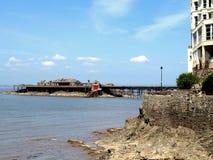 Birnbeck pier, Weston-Super-Mare. The old Birnbeck pier, from anchor head at Weston-Super-Mare,Somerset Stock Photo