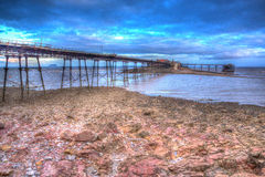 Birnbeck Pier Weston-super-Mare Somerset England in colourful HDR Stock Photography