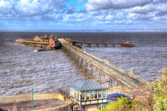 Birnbeck Pier Weston-super-Mare Somerset England in colourful HDR Stock Image
