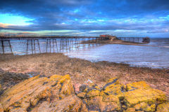 Birnbeck Pier Weston-super-Mare Somerset England in colourful HDR Stock Photo