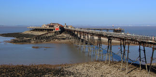 Birnbeck Pier Weston-super-Mare Somerset England historic Englis Royalty Free Stock Photography