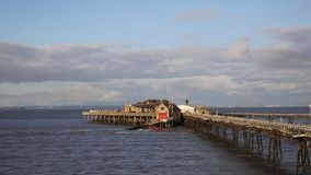 Birnbeck Pier Weston-super-Mare Somerset England with RNLI lifeboat Stock Image