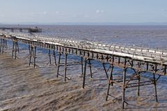 Birnbeck Pier, Weston-super-Mare stock images