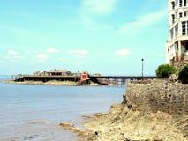 Birnbeck pier, Weston-Super-Mare. royalty free stock photography