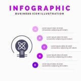 Birne, Licht, Idee, Ausbildung Infographics-Darstellungs-Schablone 5 Schritt-Darstellung lizenzfreie abbildung
