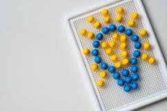 Birne umrissen mit Mosaiken Motivbild Stockfoto