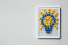 Birne umrissen mit Mosaiken Motivbild Stockfotografie