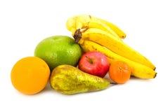 Birne und Apfel mit Frucht Lizenzfreie Stockbilder