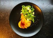Birne und blauer chese Salat Lizenzfreie Stockbilder