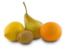 Birne, Zitrone, Orange, Kiwi Lizenzfreie Stockbilder