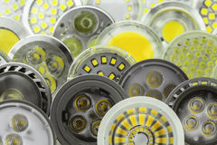 Birnen der Menge GU10 LED mit verschiedenen Größen von Chips Lizenzfreie Stockbilder