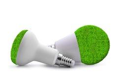 Birnen Eco LED lokalisiert Lizenzfreie Stockbilder