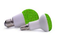 Birnen Eco LED lokalisiert Lizenzfreie Stockfotografie