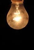 Birnen - gelber leicht- Thomas Edison Lizenzfreies Stockbild