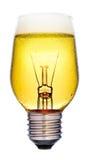 Birnen-Ideenkonzept des Bieres glühendes Lizenzfreie Stockfotos