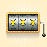Birnen im Spielautomaten Lizenzfreie Stockfotos