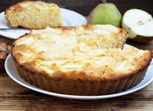 Birnen-Torte lizenzfreies stockbild