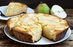 Birnen-Torte Stockbilder