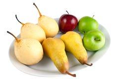 Birnen und Äpfel lizenzfreie stockbilder