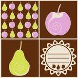 Birnen und Äpfel Vektor Abbildung