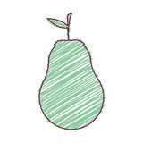 Birnenfruchtlebensmittel vektor abbildung