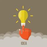 Birnenikone mit Innovationsidee Vektor Lizenzfreies Stockbild