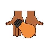 Birnenlichtenergievektor-Illustrationsgrafikdesign Lizenzfreie Stockbilder