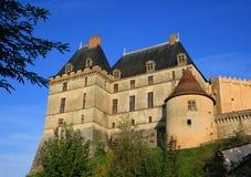 biron замок de dordogne Франция Стоковое фото RF