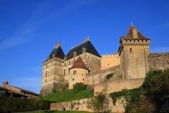 biron chateau de dordogne法国 免版税库存图片
