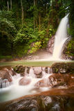Biroro waterfalls. Local waterfall, famous for those who likes to do some hiking in Malino, Sulawesi Selatan, Indonesia Royalty Free Stock Photo
