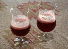 Birra aromatizzata ciliegia Fotografia Stock Libera da Diritti